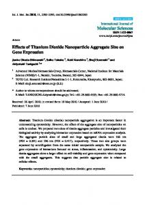 Effects of Titanium Dioxide Nanoparticle Aggregate Size on ... - MDPI