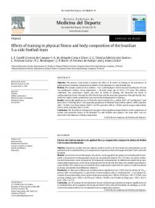 Effects of training in physical fitness and body