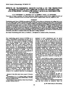 Effects of Transforming Growth Factor (beta) on the Production of ...