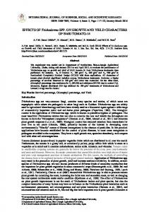 EFFECTS OF Trichoderma SPP. ON GROWTH AND ...