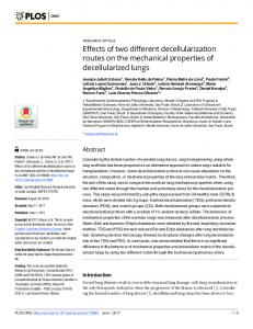 Effects of two different decellularization routes on