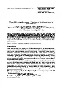Effects of Ultra-high Temperature Treatment on the ... - Springer Link