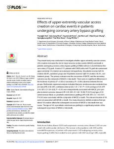 Effects of upper-extremity vascular access creation ... - Semantic Scholar