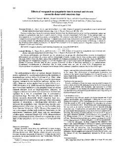 Effects of verapamil on sympathetic tone in normal ...