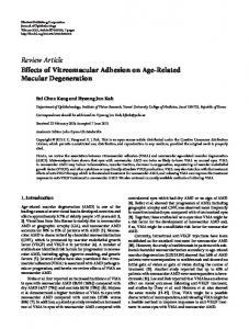 Effects of Vitreomacular Adhesion on Age-Related Macular ...
