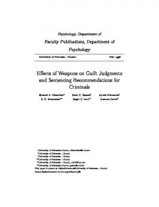 Effects of Weapons on Guilt Judgments and ...