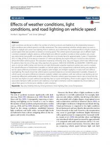 Effects of weather conditions, light conditions, and