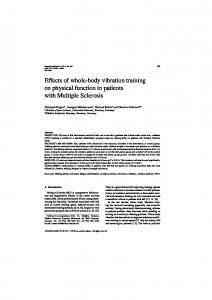 Effects of whole-body vibration training on physical ... - IOS Press
