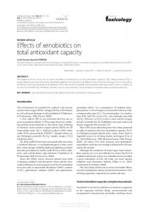 Effects of xenobiotics on total antioxidant capacity