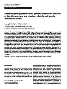 Effects of xylooligosaccharide on growth performance ... - Springer Link