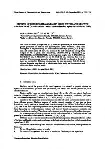 EFFECTS OF ZEOLITE (Clinoptilolite) ON SOME WATER AND ...