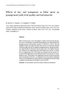 Effects of zinc and manganese as foliar spray on ... - SciELO