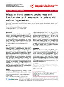 Effects on blood pressure, cardiac mass and function ... - Springer Link