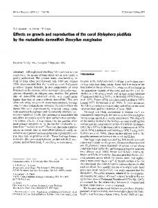 Effects on growth and reproduction of the coral - Springer Link