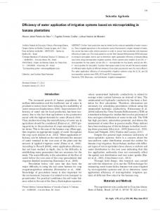 Efffciency of water application of irrigation systems based on ... - SciELO