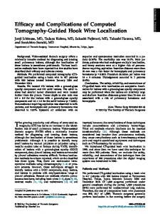 Efficacy and Complications of Computed Tomography-Guided Hook ...