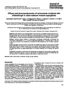 Efficacy and pharmacodynamics of voriconazole ... - Oxford Journals