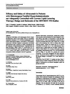 Efficacy and Safety of Alirocumab in Patients with ... - Springer Link
