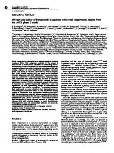 Efficacy and safety of bortezomib in patients with renal impairment ...
