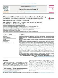Efficacy and Safety of Celecoxib in Chinese Patients with ... - Core