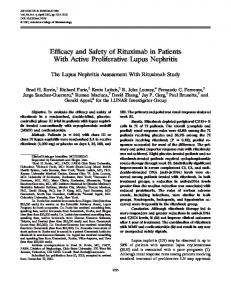 Efficacy and safety of rituximab in patients with active proliferative ...