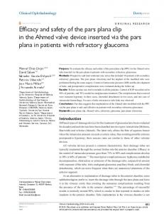 Efficacy and safety of the pars plana clip in the Ahmed valve device ...