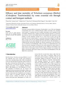 Efficacy and time mortality of Tribolium castaneum - Applied Sciences ...
