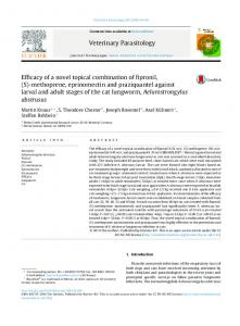 Efficacy of a novel topical combination of fipronil, (S ... - Core