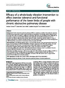 Efficacy of a whole-body vibration intervention to effect exercise ...