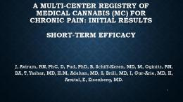 efficacy of Cannabis for pain treatment