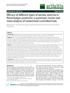 Efficacy of different types of aerobic exercise in ... - ScienceOpen