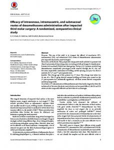 Efficacy of intravenous, intramassetric, and