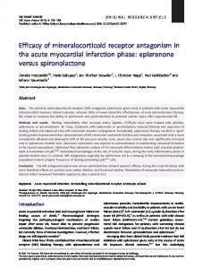 Efficacy of mineralocorticoid receptor ... - Wiley Online Library