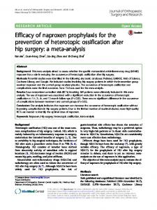 Efficacy of naproxen prophylaxis for the prevention of ... - Springer Link