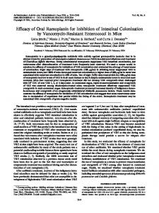 Efficacy of Oral Ramoplanin for Inhibition of Intestinal Colonization by ...