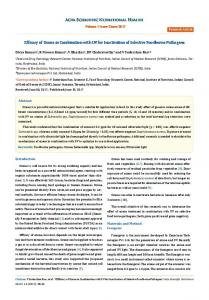 Efficacy of Ozone in Combination with UV for ... - Acta Scientific