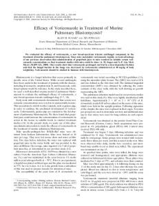 Efficacy of Voriconazole in Treatment of Murine Pulmonary ...