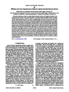 Efficiency and rate of spontaneous emission in organic ...