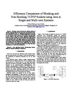 Efficiency Comparison of Blocking and Non-blocking TCP/IP Sockets ...