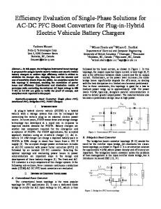 Efficiency Evaluation of Single-Phase Solutions for AC-DC PFC Boost ...