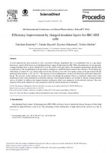 Efficiency Improvement by Charged-insulator ... - ScienceDirect.com