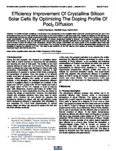 Efficiency Improvement Of Crystalline Silicon Solar Cells By ...