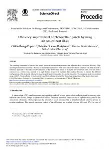 Efficiency Improvement of Photovoltaic Panels by ... - ScienceDirect.com