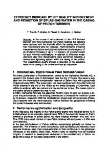 efficiency increase by jet quality improvement and