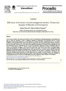 Efficiency of Electronic Records Management Systems - ScienceDirect