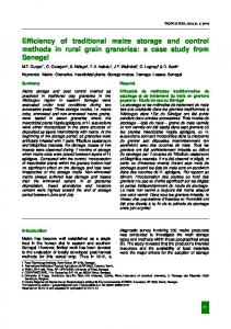 Efficiency of traditional maize storage and control ... - Semantic Scholar