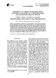 efficiency of various water treatment processes in the ... - Science Direct