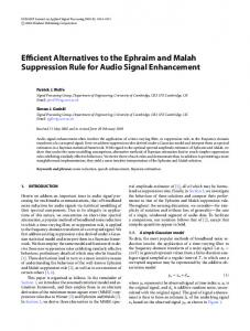 Efficient Alternatives to the Ephraim and Malah