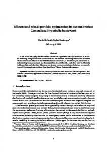 Efficient and robust portfolio optimization in the