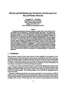 Efficient and Self-Healing Key Distribution with Revocation for Tactical ...